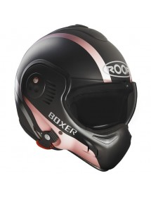CASQUE MODULABLE ROOF RO5 BOXER V8 - MANGA BLACK AND PINK