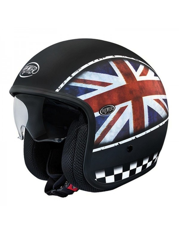 CASQUE JET PREMIER VINTAGE - FLAG UK