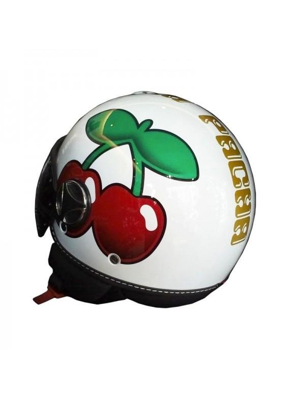 Pacha/ /Momo Ibiza casque de moto officielle Logo cerises Unisexe M blanc