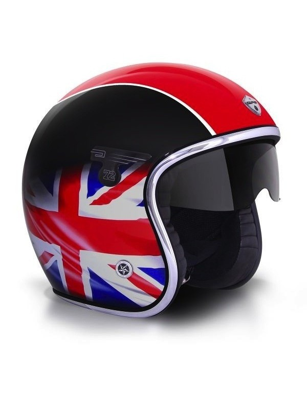 casque jet gpa carbon solar one union jack pas cher. Black Bedroom Furniture Sets. Home Design Ideas