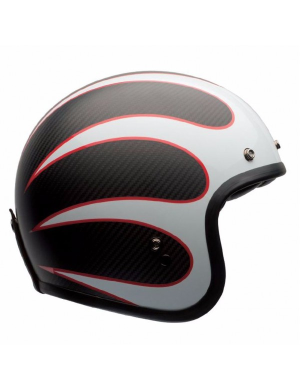 CASQUE BELL CUSTOM 500 - CARBON ACE CAFE TON UP